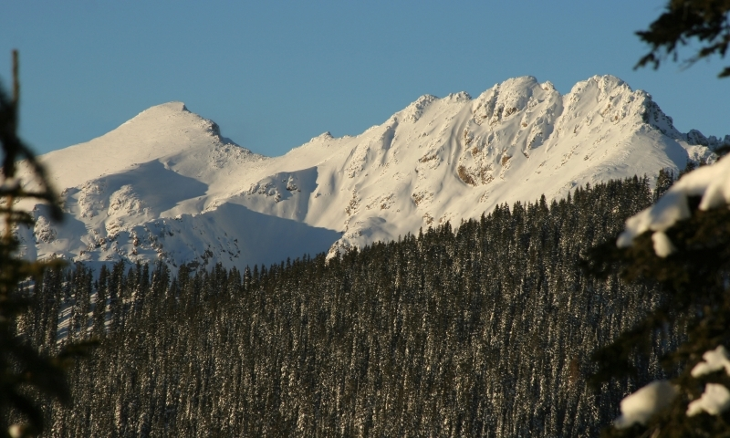 Snow Covered Gore Range
