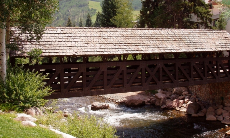 Gore Creek Bridge in Vail