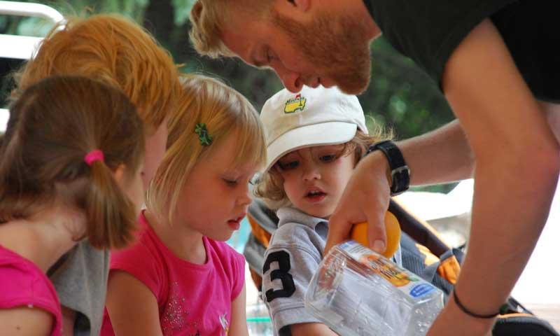 Kid fishing at the Vail Nature Center