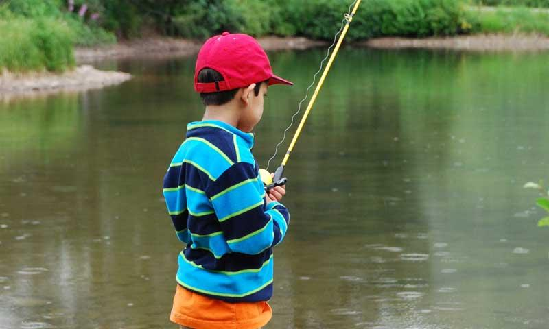 Kid fishing at the Vail Nature Center