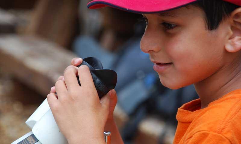Kid at a Vail Nature Center Program