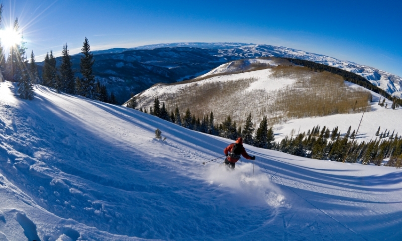 Skiing Backcountry near Beaver Creek