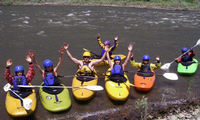 A Kayak School on the Colorado River near Vail