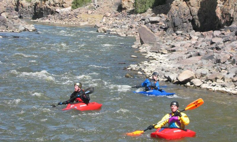 Kayaking the Colorado River near Vail