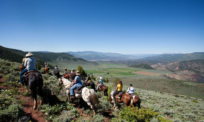 Horseback Riding at Black Mountain Ranch in Vail Colorado