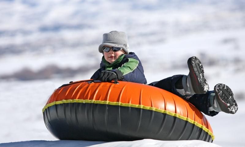 Kids Snow Tubing Winter