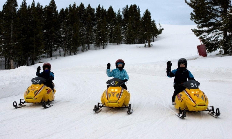 Mini Snowmobiling at Vail