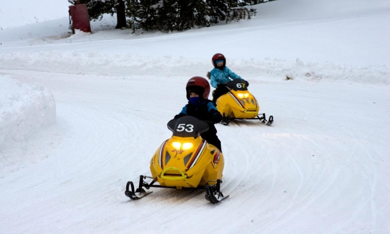 Mini Snowmobiling at Vail