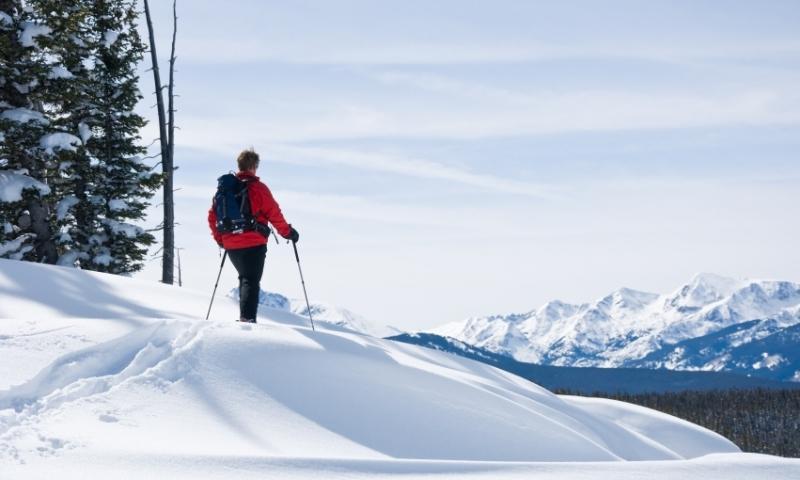 Vail Snowshoeing at Vail Pass Colorado